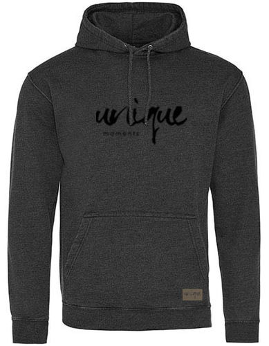 "Hoodie ""Washed"", charcoal"