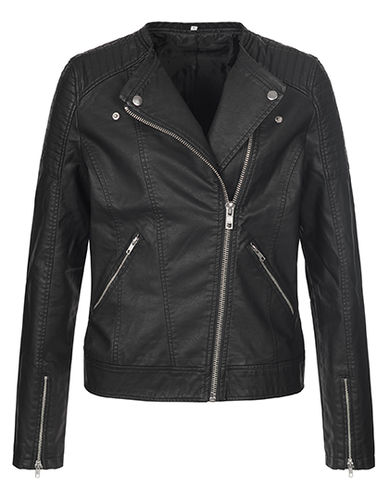 Unique Lederjacke, black