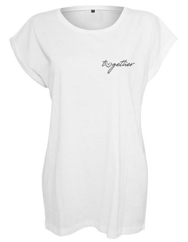 Shirt women, Herz-together, white
