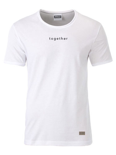 Shirt men, together, white