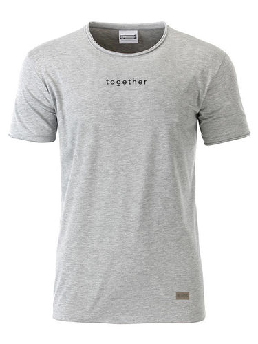 Shirt men, together, grey