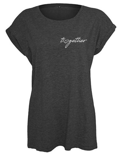Shirt women, Herz-together, grey