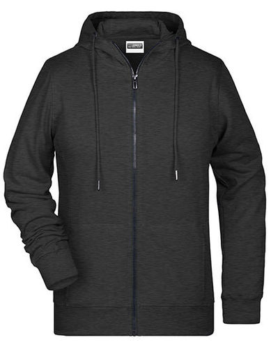 "Zip Hoodie ""Spring"", black heather"