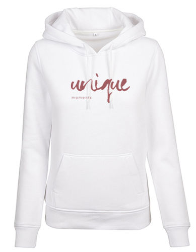"Hoodie ""Classic"", white/rosé"